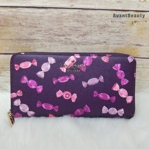 Kate Spade continental Wallet Staci Candy Pink New